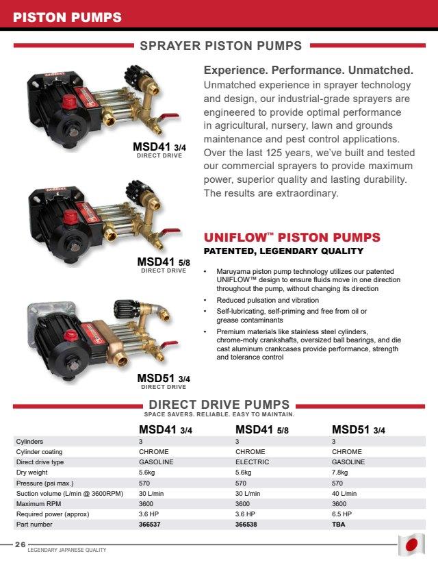 Maruyama MSD41-3//4 Uniflow Direct Drive Pump